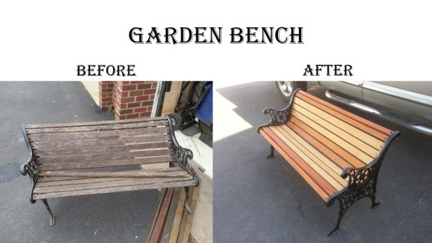 Bench Before & After