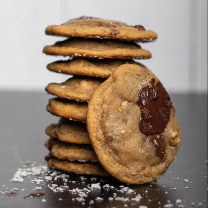 gourmet chocolate chip cookies with walnuts