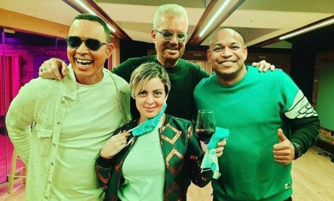 Alexis Valdés, Claudia, Willy Chirino y Alexander Delgado se encuentran en Miami