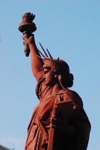 Estatua de la Libertad hecha de Hierro Fundido