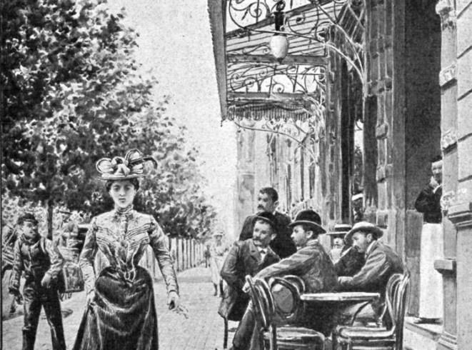 Puerta del Café sobre Avenida de Mayo