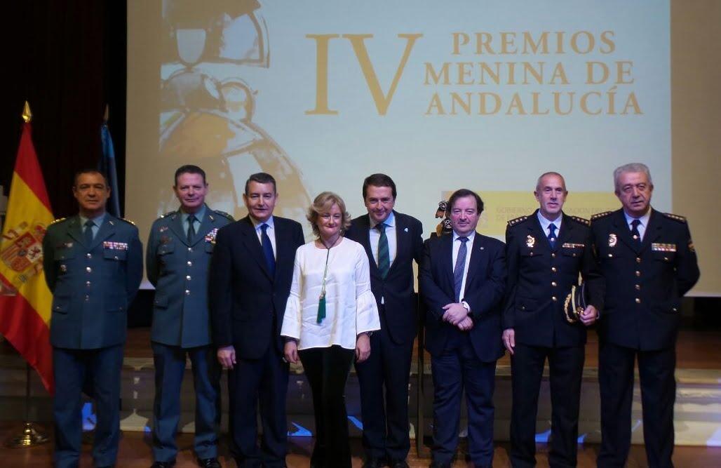 Acto de entrega de los Premios Menina andalucía, en donde ha recibido el galardón la onubense, Adela García Barreiro
