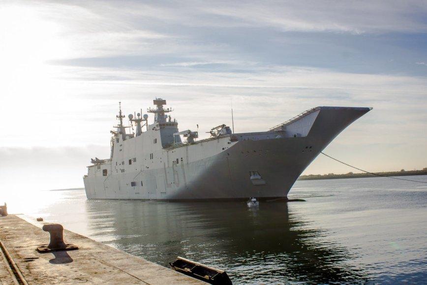 Se trata del mayor buque de guerra construido en España
