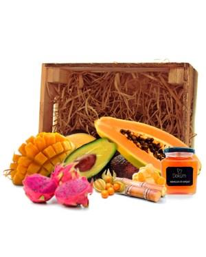 surtidos de frutas tropicales