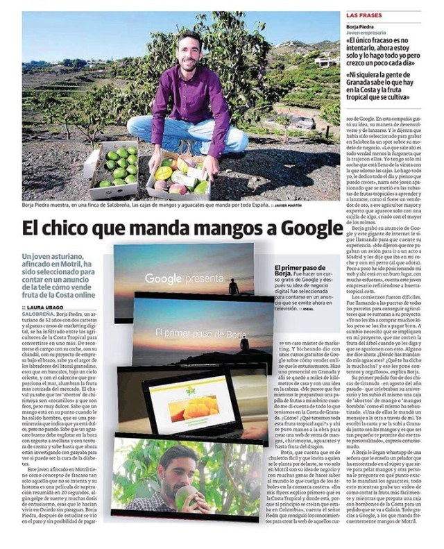 el ideal el chico que manda mangos a Google