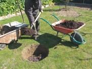Mezcla con tierra vegetal