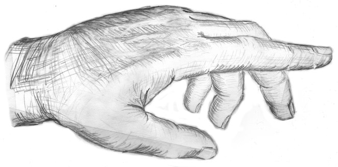 drawing of a hand