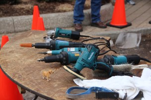 Tools of the trade; notice the model for the ice pup.