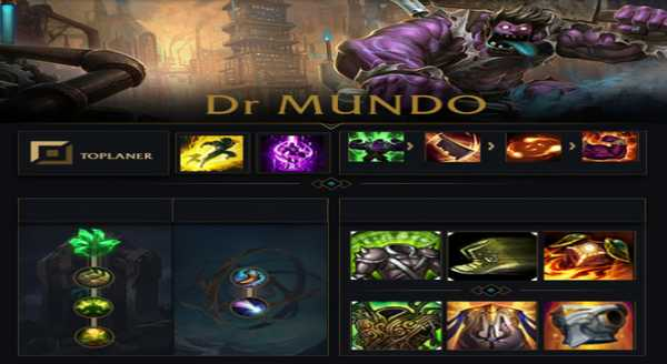 league of legends Build e runas para Dr. Mundo