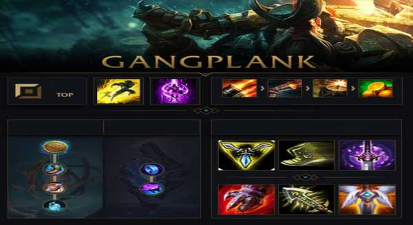 league of legends Build e runas para Gangplank