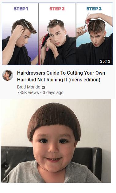Regular Dad Trying To Follow Brad Mondo Hair Cut Tutorial I Say It Is Close Enough
