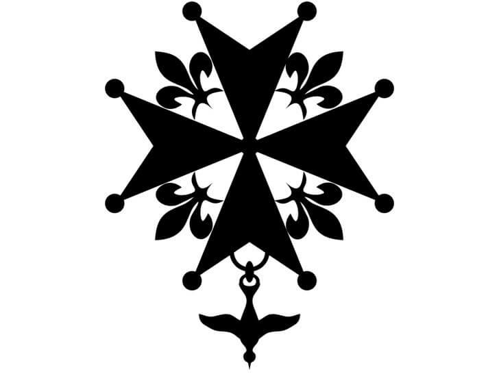 Abbildung des Hugenottenkreuzes