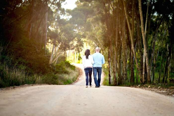 A beautiful walk at the garden route is a gateway to romance