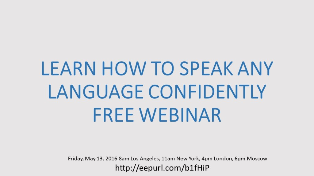 How to Speak Any Language Confidently Free webinar