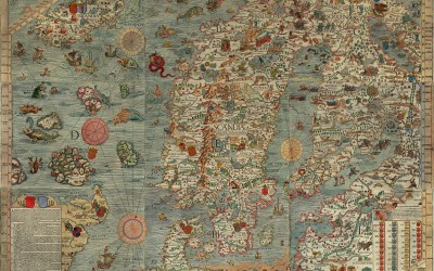 Illuminated Map of Early Medieval Scandinavia