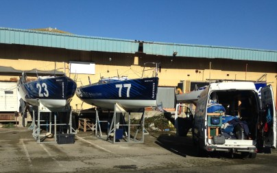 Winter work on the boats begin
