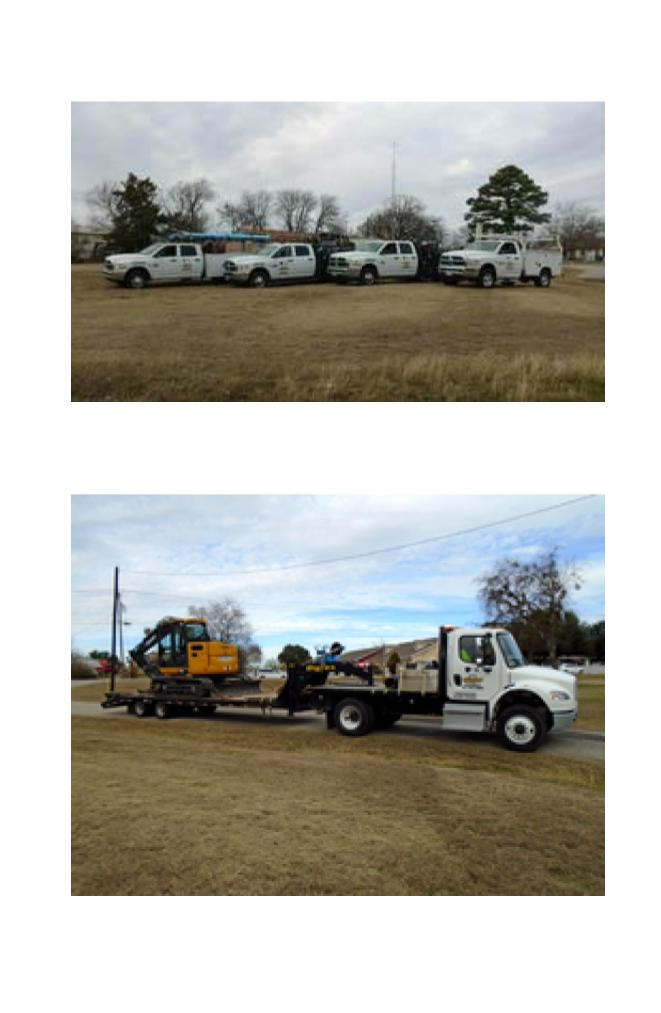 Hughes excavating new project equipment (1)
