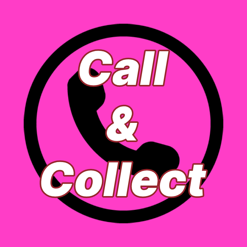 Phone clip art with 'Call & Collect' text overlay