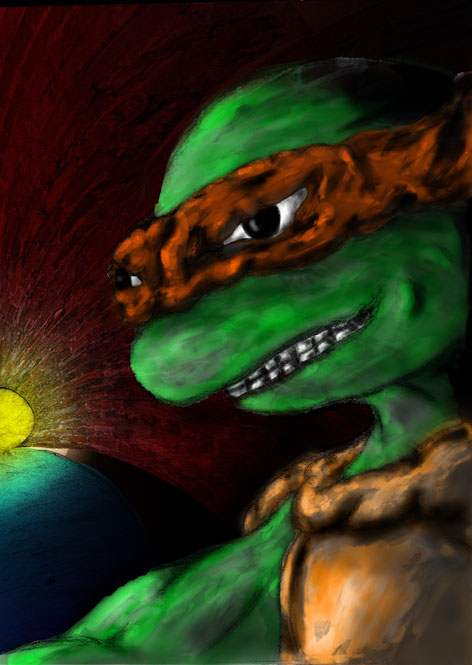 Digital Painting: TMNT - Michelangelo
