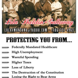 LOLA 4 Montana Campaign Poster: Protecting you from…