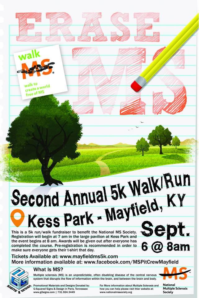 Erase MS 5k Walk/Run Poster