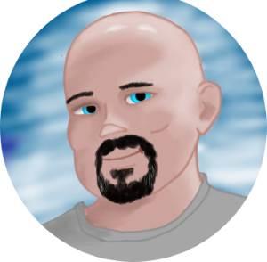 Caricature image of Hugh Hollowell
