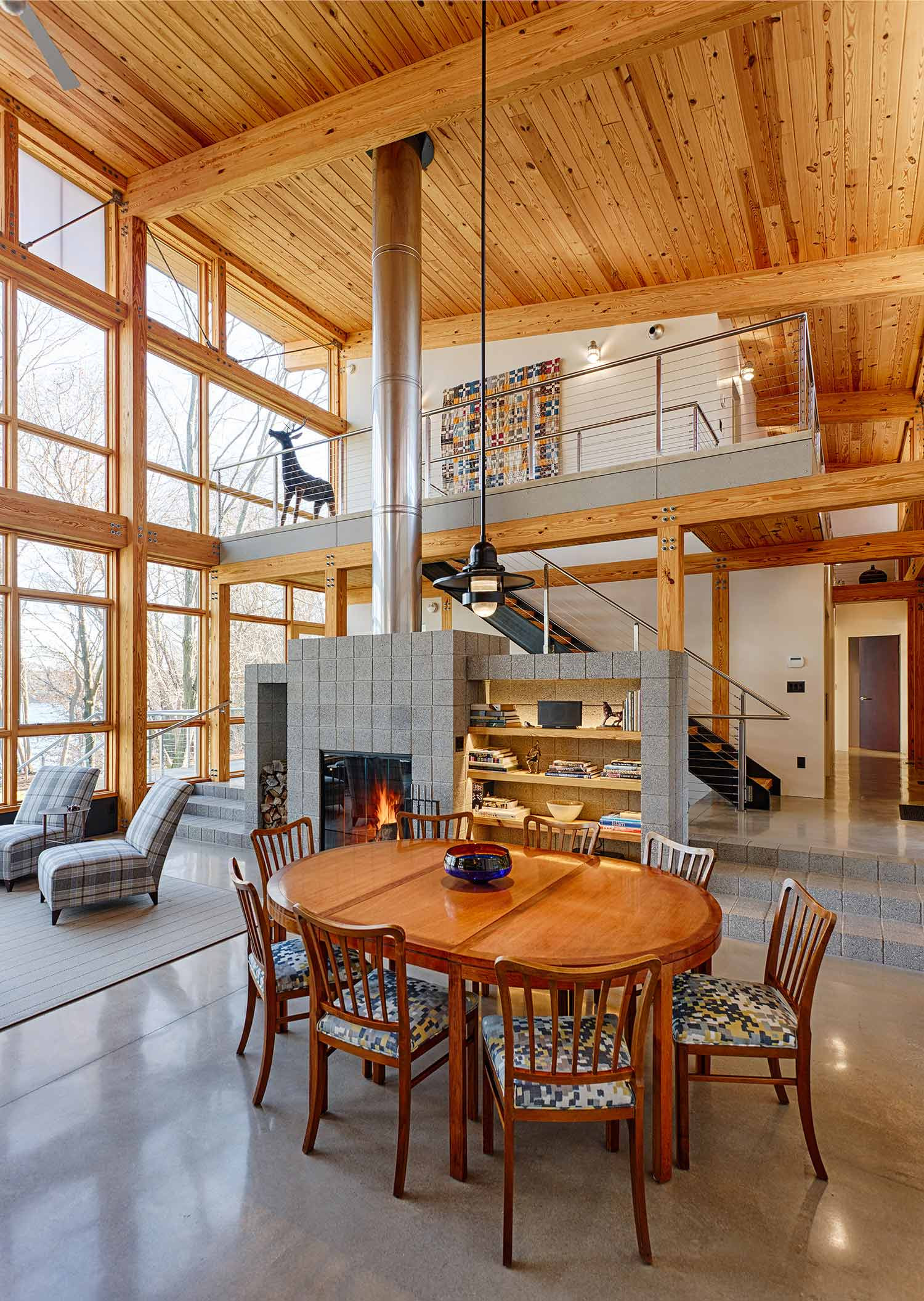 Modern timber frame house for What is a frame home