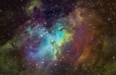 M16 - Eagle Nebula - Ha – 7x10min + 1x20min OIII – 8x5min + 9x10min SII – 20x5min + 9x10min SW 120 f5 / EQ6 / Atik 314L+ Taken from Rushcutters Bay in Sydney, Australia