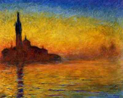 Claude Monet: San Giorgio Maggiore in der Dämmerung