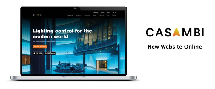 casambi new website presented by hugo neumann