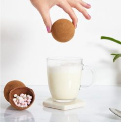 Des bombes à chocolat chaud, remplies de chamallows