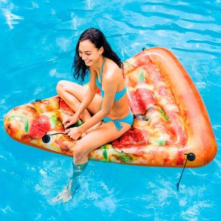 part de pizza gonflable piscine