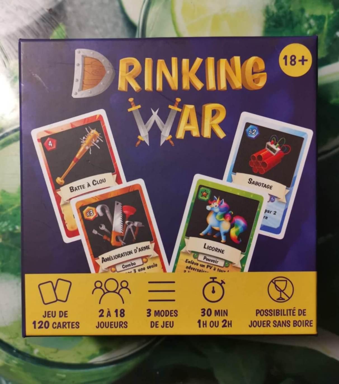 jeu de carte alcool Test de Drinking War, le jeu de cartes mêlant stratégie et alcool