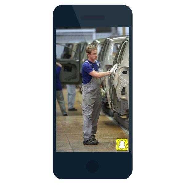Snapchat para enseñar empresa