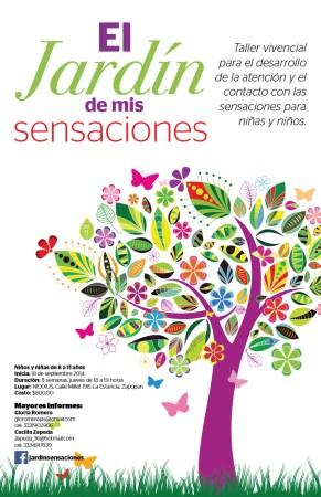 Diseño cartel para el taller El Jardín de las Sensaciones