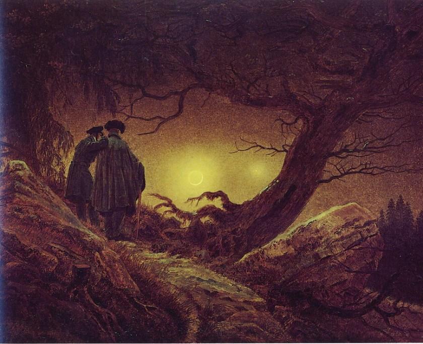 C D Friedrich Menn hugleiða tunglið 1819