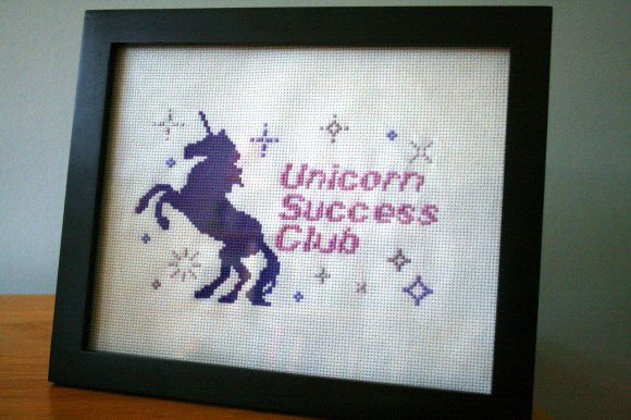 Unicorn Success Club Cross Stitch from Hugs are Fun
