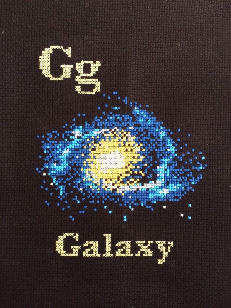 G is for Galaxy Space Cross Stitch from Hugs are Fun