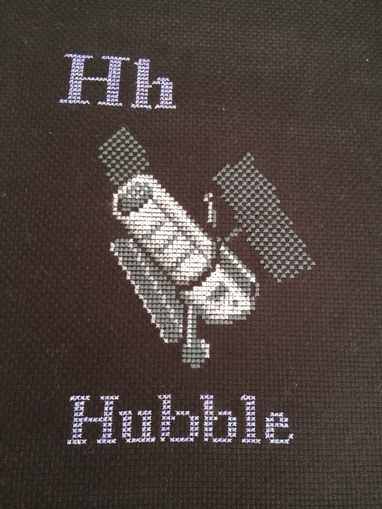 H is for Hubble Space Cross Stitch from Hugs are Fun