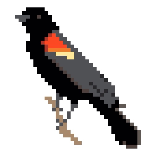 Redwing Blackbird Cross Stitch Pattern by Hugs are Fun