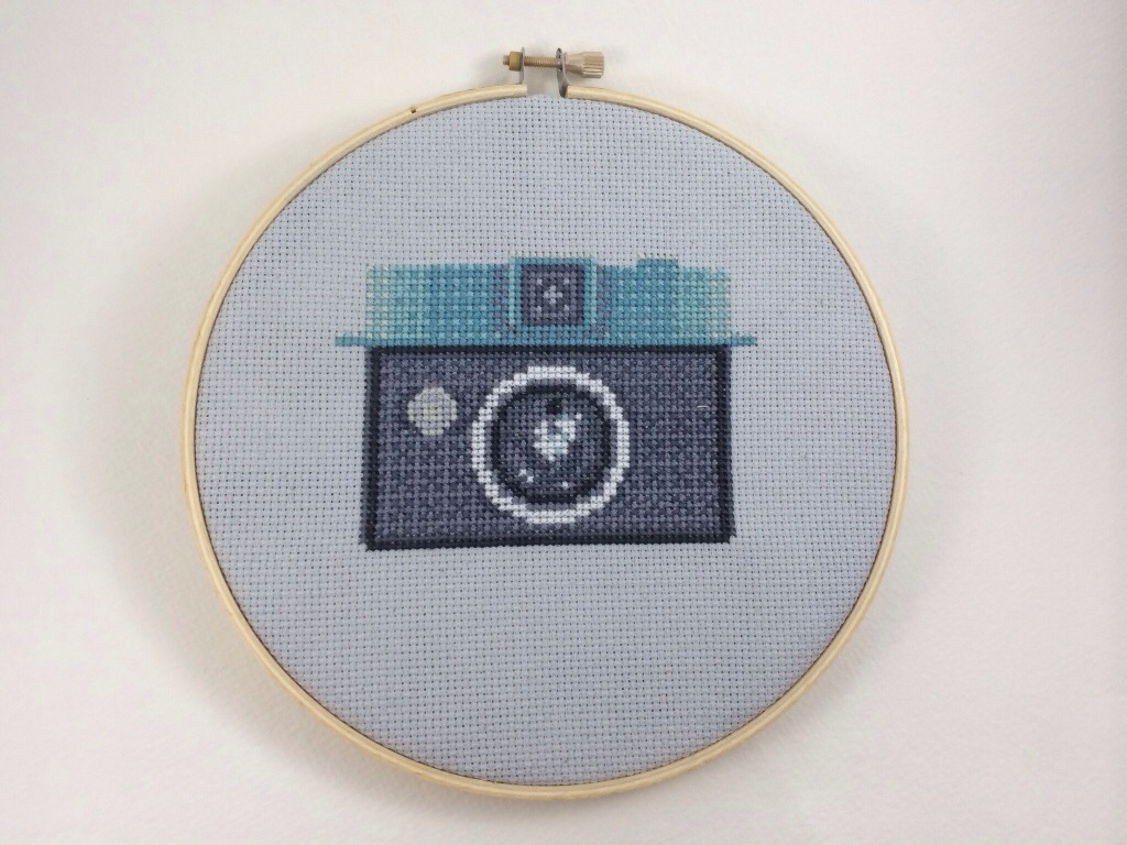 Vintage Camera Cross Stitch Pattern by Hugs are Fun
