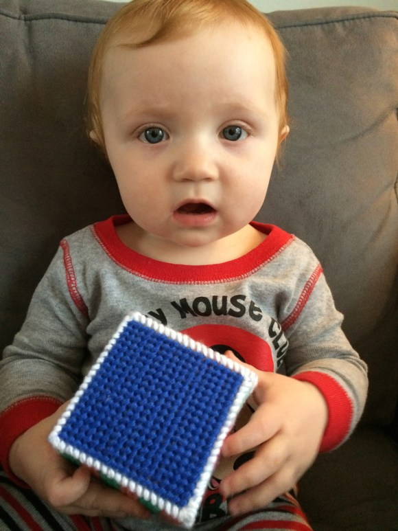 Plastic Canvas Baby Blocks by Hugs are Fun