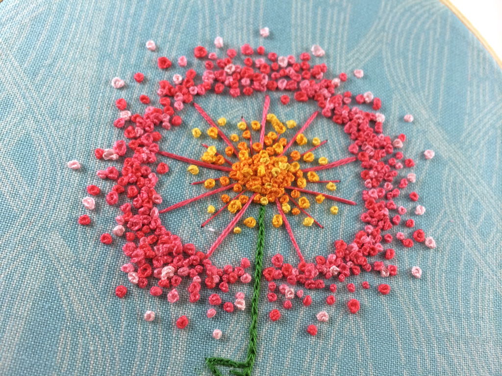 Dandelion Puff Embroidery Pattern by Hugs are Fun