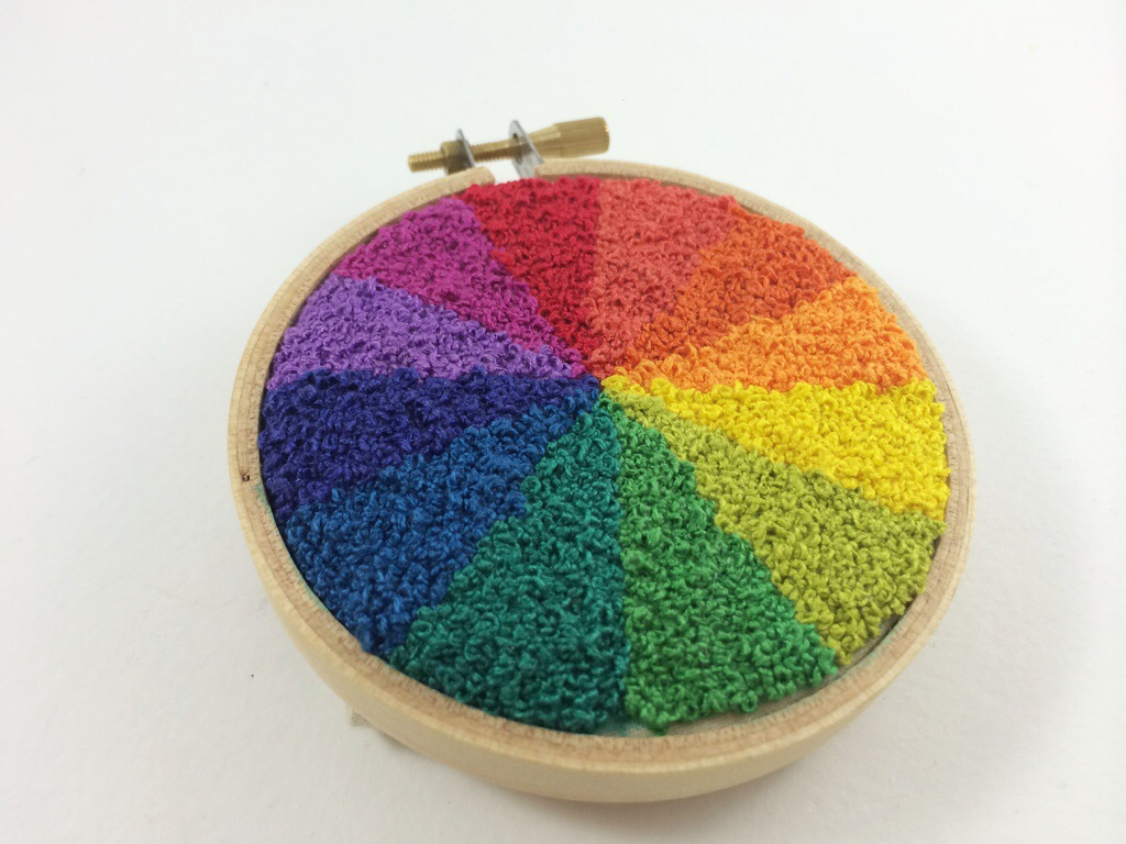 French Knot Color Wheel by Hugs are Fun