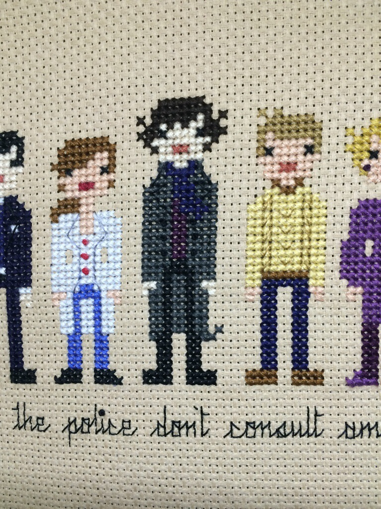 Completed! Sherlock Cross Stitch from Hugs are Fun
