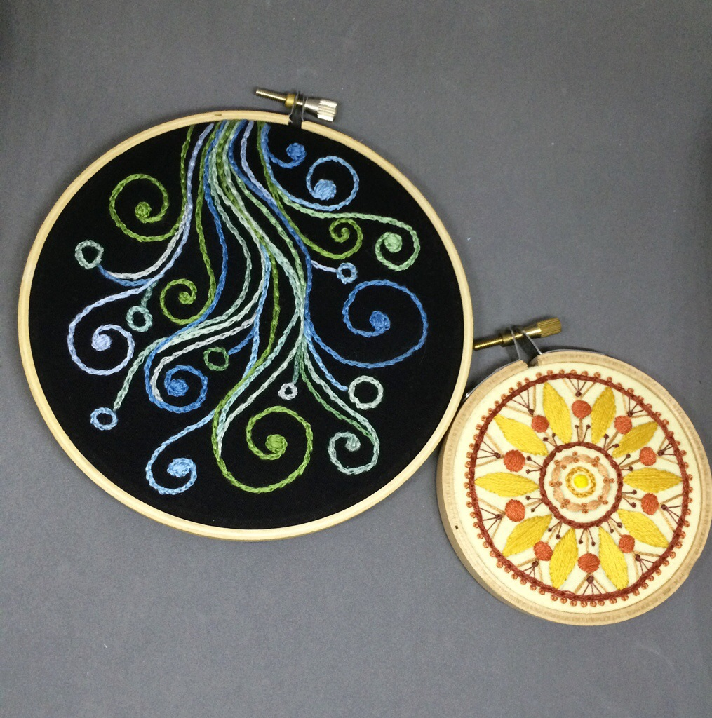 Sometimes I Swirl Embroidery Hoop