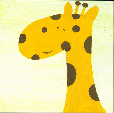 Giraffe Illustration by Hugs are Fun