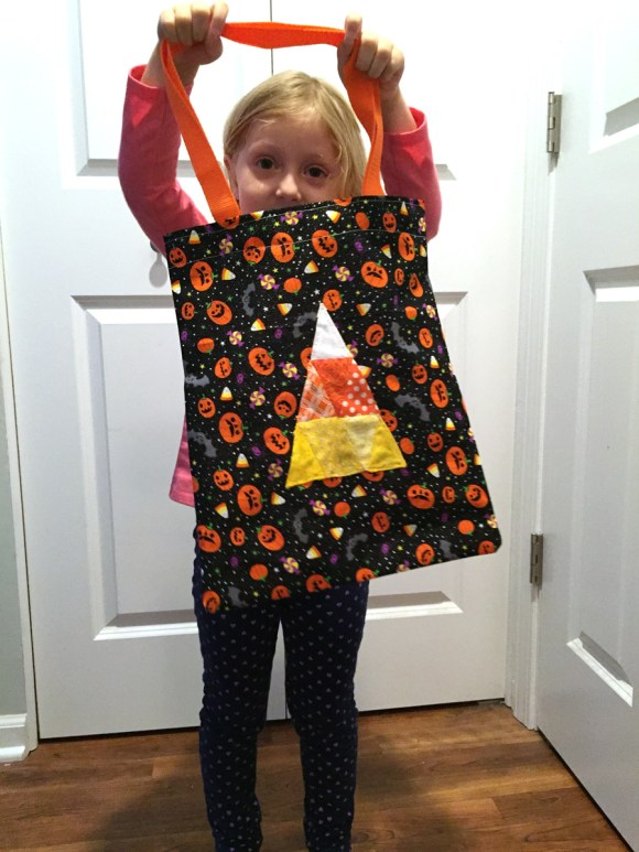 Halloween English Paper Pieced Candy Corn Pattern and Trick or Treat Bag from Hugs are Fun are Fun