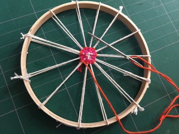 Circular Weaving with Baker's Twine from Hugs are Fun