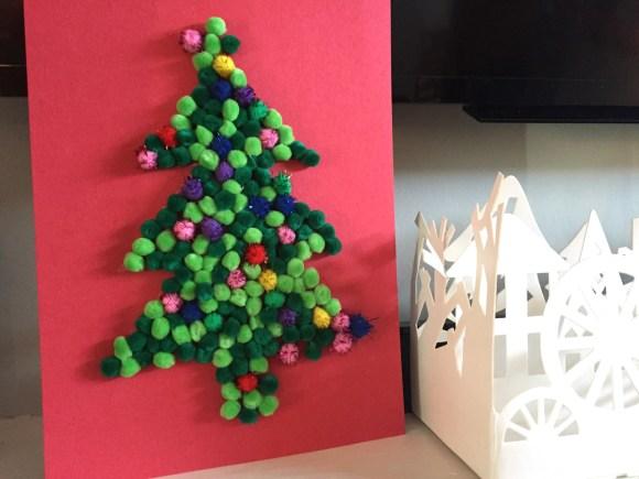 Silhouette Pom Pom Christmas Tree from Hugs are Fun